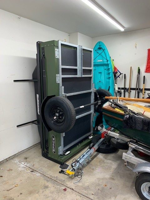 storing on bumpers in garage