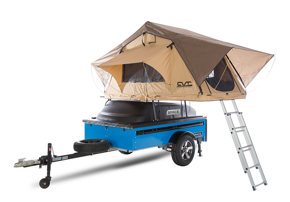 45 angle blue tent on top