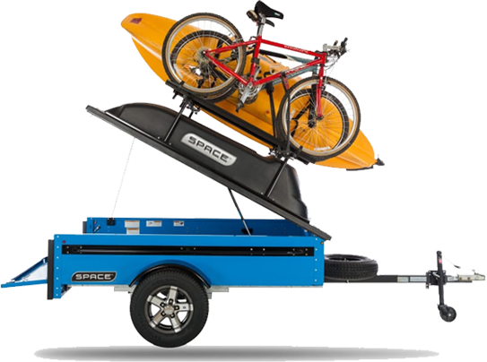 Blue Trailer with Kayak