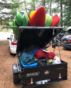 Camping Utility Trailer Lid Open