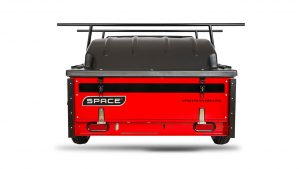Red Camping Utility Trailer