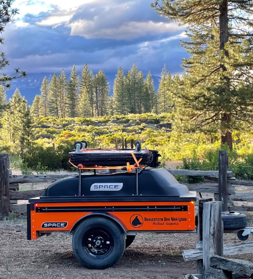 orange customized space trailer what are space trailers