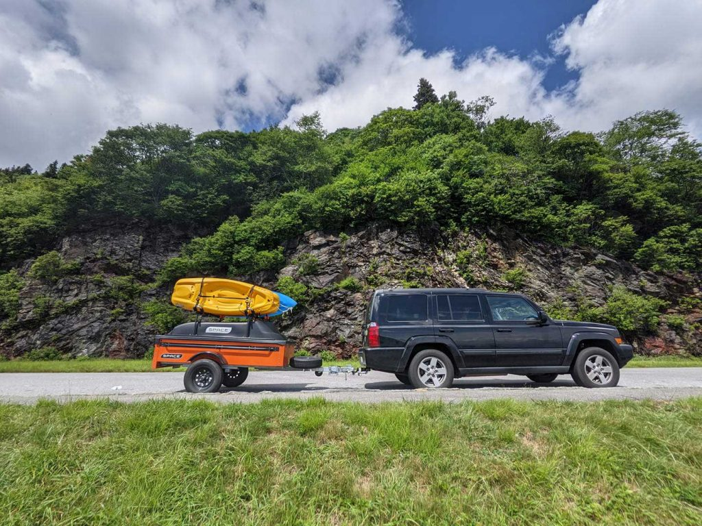 What Are Space Trailers Orange Space Trailer with Kayaks