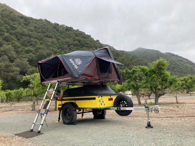 Yellow Space Trailer Rooftop Tent Capable