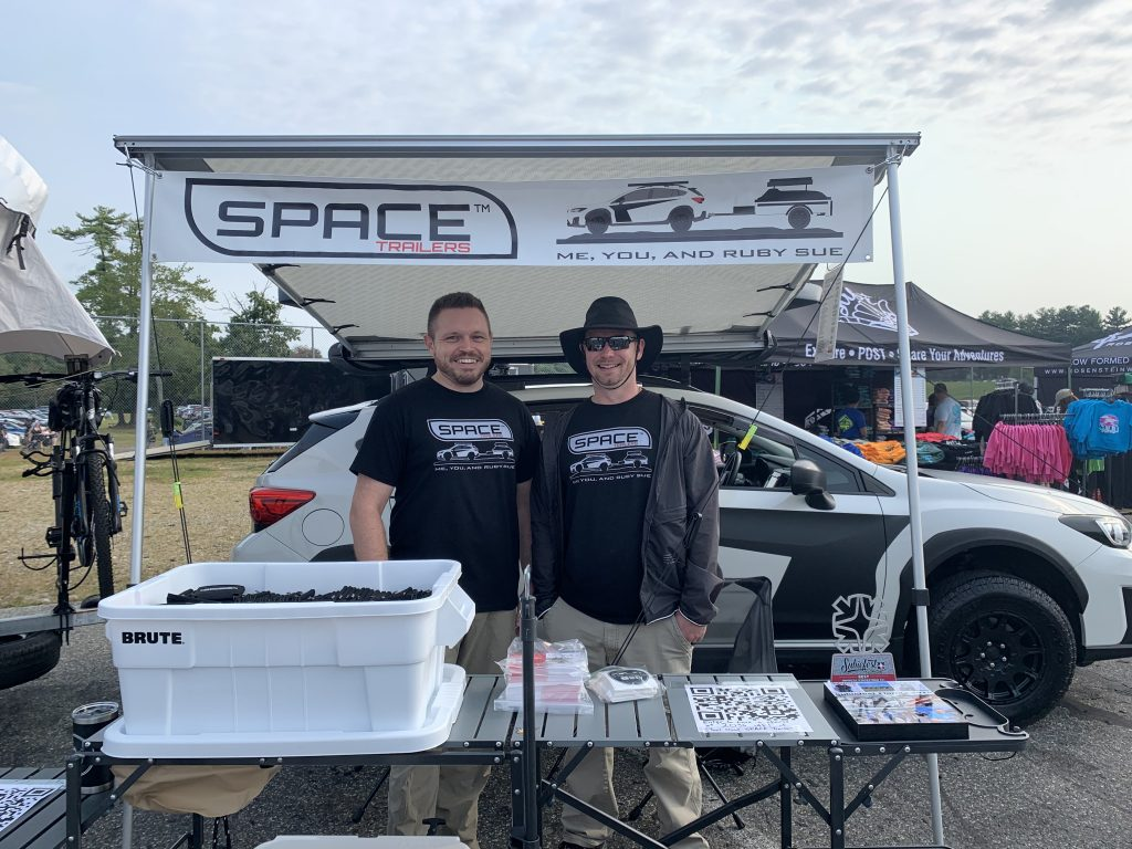 Space Trailer Team under SPACE Trailer tent at 2021 Wicked Big Meet